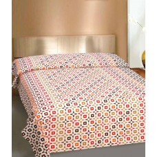 Deals, Discounts & Offers on Home Appliances - Curl Up Multicolor Printed Cotton Single Bed Sheet