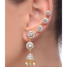 Deals, Discounts & Offers on Earings and Necklace - Jewels Galaxy Imperial Circular Jhumka Earcuff - 2 Piece