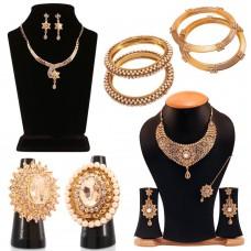 Deals, Discounts & Offers on Women - Neelam Jadau 12 Pieces Designer Jewellery Collection