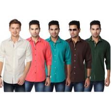 Deals, Discounts & Offers on Men Clothing - Suspense Men's Solid Casual Shirt