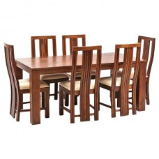 Deals, Discounts & Offers on Home Appliances - Ethnic Handicrafts Madrid 6 Seater Sheesham Wood Dining Set with Table