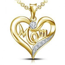 Deals, Discounts & Offers on Earings and Necklace - 14k Gold Plated 925 Sterling Silver Mom Pendant