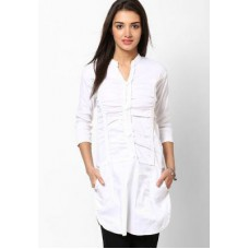 Deals, Discounts & Offers on Women Clothing - Purple Oyster Cotton Stylish Tunic