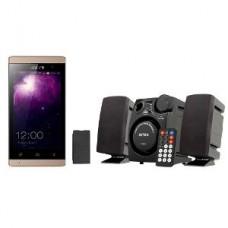 Deals, Discounts & Offers on Mobiles - Zen Ultrafone 303 Elite Smartphone with Intex Multimedia Speaker with Remote