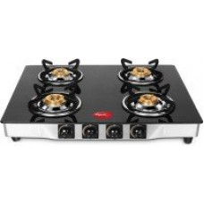 Deals, Discounts & Offers on Home Appliances - Pigeon Blackline Smart Stainless Steel, Glass Manual Gas Stove