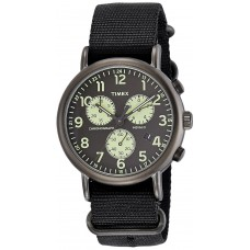 Deals, Discounts & Offers on Men - Timex Weekender Chronograph Black Dial Men's Watch