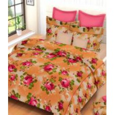 Deals, Discounts & Offers on Home Appliances - Always Plus Floral Cotton Double Bedsheet with 2 Pillow Covers