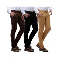 Deals, Discounts & Offers on Men Clothing - VSI - Combo of Men's Trousers set of three