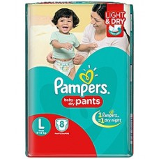 Deals, Discounts & Offers on Baby Care - Pampers Pant Style Diapers Light And Dry Large - 8 Pieces