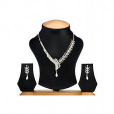 Deals, Discounts & Offers on Earings and Necklace - Ethnic Jewels Silver Alloy Earring & Necklace Set