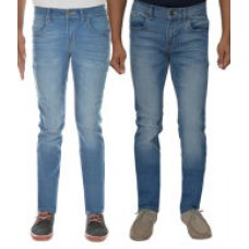 Deals, Discounts & Offers on Men Clothing - London Jeans Blue Slim Fit Stretchable Jeans Pack Of 2