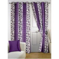 Deals, Discounts & Offers on Home Decor & Festive Needs - Story @ Home Polyester Multicolor Printed Eyelet Door Curtain