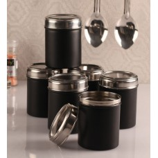Deals, Discounts & Offers on Storage - Dynamic Store black 750 Ml Canister - Set of 6