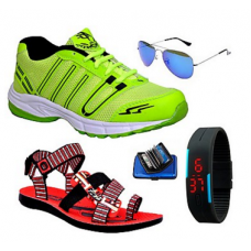 Deals, Discounts & Offers on Men - ABZ Combo Of Men Sports Shoes With Sandals And Accessories @ Rs.998/-