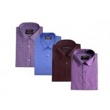 Deals, Discounts & Offers on Men Clothing - Flat 46% off on Pack Of 4 Formal Shirts