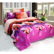 Deals, Discounts & Offers on Home Appliances - Fablooms Roses N Leaves 3d Double Bedsheet With 2 Pillow Covers