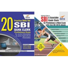 Deals, Discounts & Offers on Books & Media - Ultimate Guide for SBI & Associates Bank Clerk Prelim & Main Exam with FREE GK 2016 ebook+ 20 Practice Sets for SBI Bank Clerk Preliminary Exam