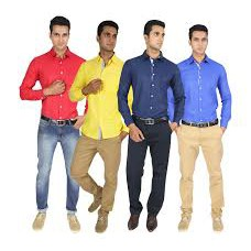 Deals, Discounts & Offers on Men Clothing - Davos PO4 Solid Shirts