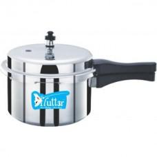 Deals, Discounts & Offers on Cookware - Flutter Silver Aluminium Pressure Cooker 3 Ltr