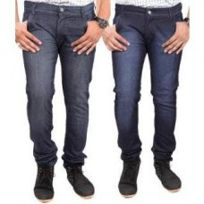 Deals, Discounts & Offers on Men Clothing - Jovial Mart Pack Of 2 Blue & Black Slim fit Mens Jeans