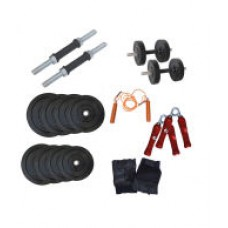 Deals, Discounts & Offers on Sports - Health Fit India 10kg Dumbbell Rods Home Gym Set