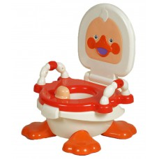 Deals, Discounts & Offers on Baby Care - Kgc Red & White Plastic Duck Potty Seat For Kids