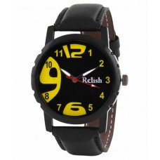 Deals, Discounts & Offers on Men - Relish White Analog Leather Round Casual Wear Watch