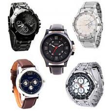 Deals, Discounts & Offers on Men - Davidson Combo Of 5 Men Watches