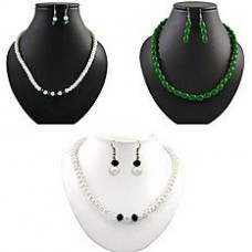 Deals, Discounts & Offers on Earings and Necklace - Flat 75% off on Xcite Set Of 3 Necklace