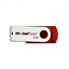 Deals, Discounts & Offers on Computers & Peripherals - Moserbaer Swivel 8 GB Utility Pendrive