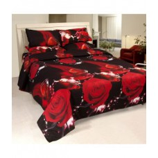 Deals, Discounts & Offers on Home Appliances - Jazz Multicolor Polycotton Double Bedsheet With 2 Pillow Covers
