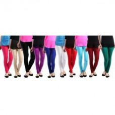 Deals, Discounts & Offers on Women Clothing - Women's Cotton Lycra multi color Leggings