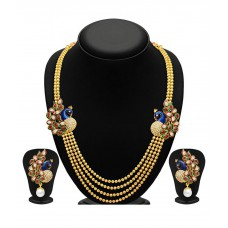 Deals, Discounts & Offers on Earings and Necklace - Sukkhi Gold Plated Four Strings Kundan Necklace Set