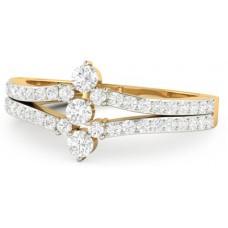 Deals, Discounts & Offers on Women - WearYourShine by PCJ The Jensina Gold Diamond 18 K Ring