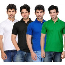 Deals, Discounts & Offers on Men Clothing - TSX Solid Men's Polo Neck T-Shirt
