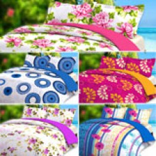 Deals, Discounts & Offers on Home Appliances - Tyche Gardenia Collection Pack Of 5 Printed Double Bedsheet Set