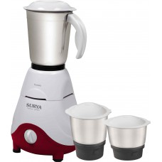 Deals, Discounts & Offers on Home Appliances - Surya Ventura 3 Jar 500 W Mixer Grinder