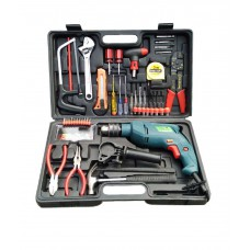 Deals, Discounts & Offers on Home & Kitchen - Camel 13 mm 850W Impact Drill Machine Kit with Reversible Function + 102 Accessories