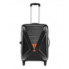 Deals, Discounts & Offers on Accessories - Safari X-Cross Black 4 Wheel Hard Luggage Trolley