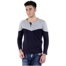 Deals, Discounts & Offers on Men Clothing - Bigidea Solid Men's Henley T-Shirt