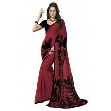 Deals, Discounts & Offers on Women Clothing - Ishin Women's Georgette Saree