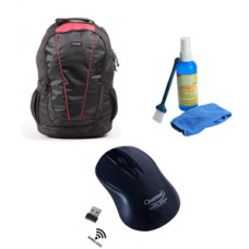 Deals, Discounts & Offers on Accessories - Sony Laptop Bag with Quantum QHM262W Wireless mouse and Universal laptop cleaning kit