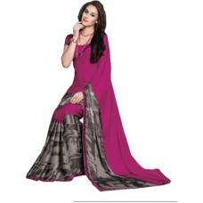 Deals, Discounts & Offers on Women Clothing - Ishin Printed Fashion Synthetic Georgette Saree
