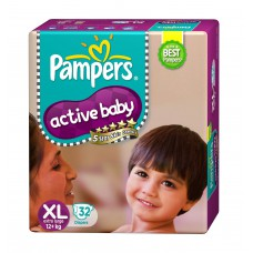 Deals, Discounts & Offers on Baby Care - Pampers Active Baby Extra Large Size Diapers