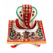 Deals, Discounts & Offers on Home Decor & Festive Needs - Sajawat Bazaar Traditional Makrana Marble Lord Ganesha