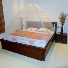 Deals, Discounts & Offers on Home Decor & Festive Needs - A-One Double Bed Fish Printed and Pink Mosquito Net
