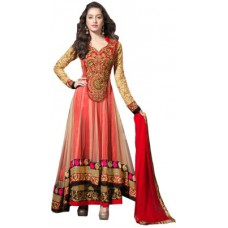 Deals, Discounts & Offers on Women Clothing - Maulik Enterprise Georgette Embroidered Semi-stitched Salwar Suit Dupatta Material