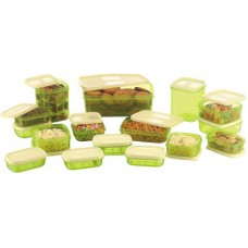 Deals, Discounts & Offers on Kitchen Containers - MasterCook 17 Pieces Green