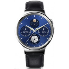 Deals, Discounts & Offers on Men - Huawei Stainless Steel with Black Leather Strap Smartwatch
