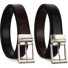 Deals, Discounts & Offers on Accessories - Bluth Men Formal Black Artificial Leather Reversible Belt